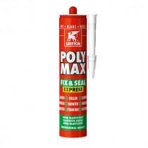 Mastic Polyuréthane Poly-Max Fix&Seal Griffon Blanc 425 g
