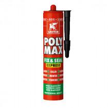 Mastic Polyuréthane Poly-Max Fix&Seal Griffon Noir 425 g