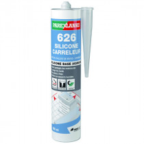 Mastic 626 Silicone Carreleur Gris moyen ParexLanko, 300 ml