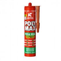 Mastic Polyuréthane Poly-Max Fix&Seal Griffon Terre 425 g