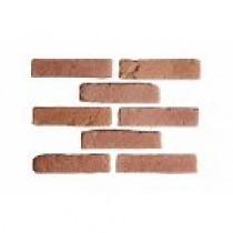 Brique de parement ton rouge 22x5 ep 1,5 cm paquet de 0,5 M2