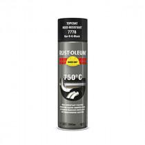Peinture Haute Température Hard Hat Rust-Oleum Noir Satin Spray 500ml