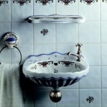 Lave mains Herbeau VALSE 1 trou Blanc