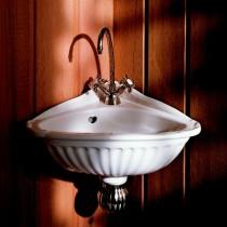 Lave mains d'angle Herbeau CARLINE 1 trou Blanc
