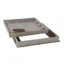 Cadre et tampon à carreler PVC gris 40x40 cm, Nicoll CTR4