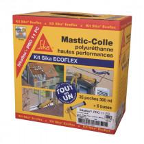 Kit Mastic colle Sika Ecoflex pro 11 FC, 35 recharges Gris Béton