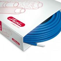 Tube pré-fourreauté multicouche Fluxo 20x2 mm bleu 50 m Nicoll
