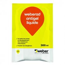Accélérateur de Prise Béton Weberad Antigel Liquide 300ml
