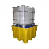 Bac de Rétention 1200l pour 1 IBC Jaune Caillebotis Plastique Engels