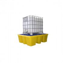 Bac de Rétention 1000l pour 1 IBC Jaune Caillebotis Plastique Engels