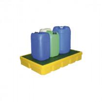 Bac de Rétention 100l Jaune Caillebotis Plastique Engels LB PFCP100