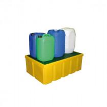 Bac de Rétention 200l Jaune Caillebotis Plastique Engels LB PFCP200