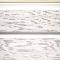 Bardage PVC Blanc aspect bois, longueur 5m