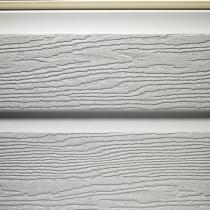 Bardage PVC Gris aspect bois 30cm longueur 5m, Barcel