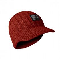 Bonnet Tricot à Visière Bosseur Rouge Taille Unique