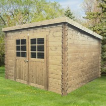 Abri de jardin bois autoclave SOLID modèle BREST 298x298cm