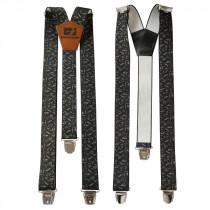 Bretelles pour Pantalon de Travail Bosseur Noires Réglables