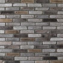 Brique de parement ton gris nuancé, paquet de 0,5 m2