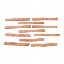 Briquette de parement ton rouge 24x2 cm ep 2 cm paquet de 0,5 M2