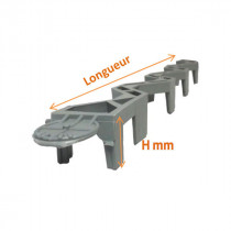 Cale d'Armature PVC Horizontale avec encoche 4x67cm Dualfix, par 40