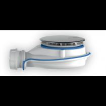 Bonde Receveur de Douche Turboflow XS Metal ⌀ 90 Chromé Nicoll TBXSM