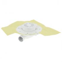 Siphon Extra Plat ⌀40mm Ajustable Inox 10x10cm Docia Nicoll SFH10NC316