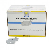 Cavalier Pivot pour fourrure 17/47 PAI, boite de 100