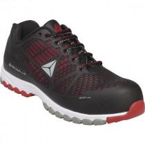 Chaussures de Sécurité DeltaPlus SPORT S1P SRC Noir-Rouge