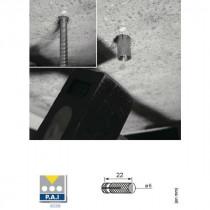 Cheville Laiton à Frapper 6 x 22 mm, boite de 100