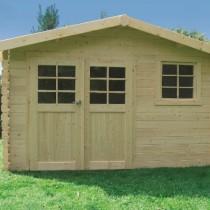 Abri de jardin bois autoclave SOLID modèle CHIMAY 358x298 cm