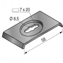 Clame de Fixation pour Chemin de Câble en Fil Niedax U40 SZ 552032