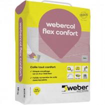 Colle Gris pour Carrelage Grand Carreaux Weber.Col Flex Confort 15 kg