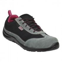 Chaussures de Sécurité DeltaPlus COMO Noir-Fushia S1P SRC
