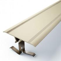 Couvre joint Plat PVC Marron à Clipser 70 mm, 3m