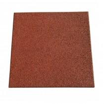 Dalle caoutchouc Hexdalle XE 50x50x5.5 cm, couleur rouge brique, le M2
