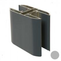 Poteau Alu Gris RAL 7035 2,3 m pour Clôture Ambre 100 x 50 mm