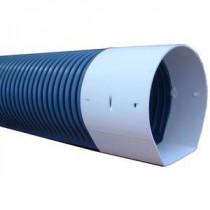 Drain Routier Ø110 mm PVC Annelé Fond Plat 6 m