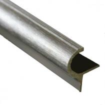 Nez de Marche Arrondi 13 mm Aluminium Brossé, longueur 3 m