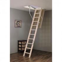 Escalier Escamotable Bois Fritz Escabois isolé 2,8 m Trémie 120 x 60 cm