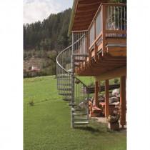 Escalier Colimaçon Extérieur Métal Galva Fritz Rondo Diamètre 120 cm