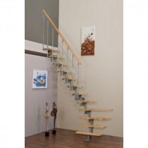 Escalier Modulaire Bois et Métal Fritz Style 165 x 76 cm