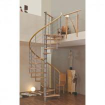 Escalier Colimaçon Bois et Métal Fritz Venezia Diamètre 120 cm