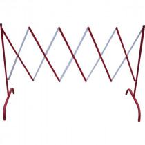 Barrière de Chantier Extensible 2,3 x 1,5 m Rouge Blanc Viso BAR001RB