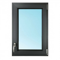 Fenêtre 1 Vantail PVC Gris 7016 75x40 cm Oscillo Battant Tirant Droit