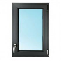 Fenêtre 1 Vantail PVC Gris 7016 95x80 cm Oscillo Battant Tirant Droit