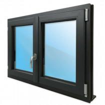 Fenêtre 2 Vantaux PVC Gris 7016 95x100 cm Oscillo Battant