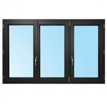 Fenêtre 3 Vantaux PVC Gris 7016 115x180 cm Oscillo Battant