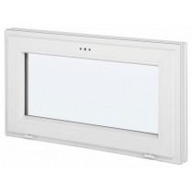 Fenêtre abattant en PVC avec verre granité, 45 cm x 90 cm