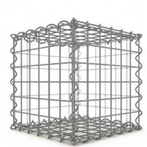 Gabion Cubique 30x30x30 cm fil 4mm maille 5x5 cm 5 faces sans 1 côté