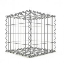 Gabion Cubique 40x40x40 cm fil 4mm maille 5x10 cm 5 faces sans 1 côté